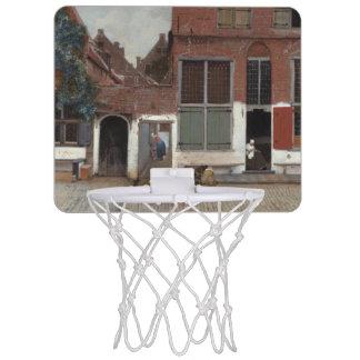 Vue des maisons à Delft par Johannes Vermeer Mini Paniers De Basket