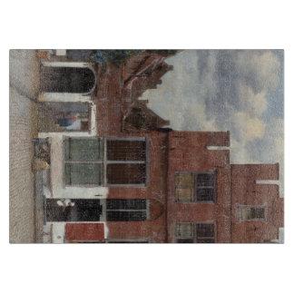 Vue des maisons à Delft par Johannes Vermeer Planche À Découper