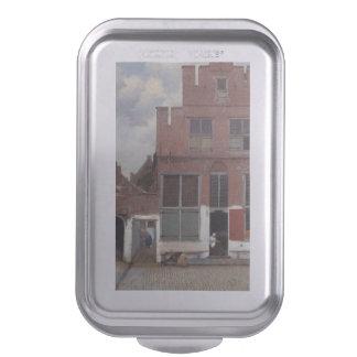 Vue des maisons à Delft par Johannes Vermeer Moule À Gâteaux