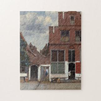 Vue des maisons à Delft par Johannes Vermeer Puzzle Avec Photo
