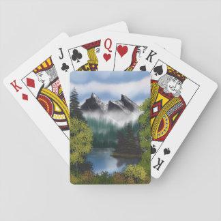 Vue des montagnes brumeuses cartes à jouer