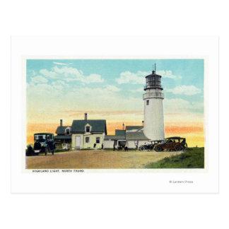 Vue des montagnes du nord de phare de Truro Cartes Postales