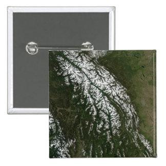 Vue des montagnes rocheuses badge