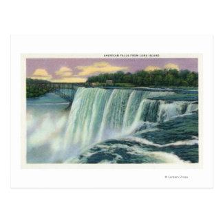 Vue d'île de Luna des automnes américains Cartes Postales