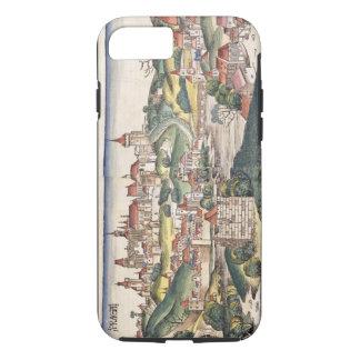 Vue d'oeil d'oiseau de Prague de Nuremberg Chron Coque iPhone 8/7