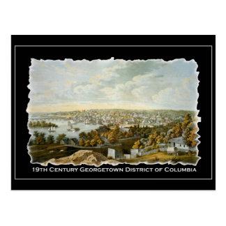 Vue du 19ème siècle de Georgetown, Washington DC Carte Postale