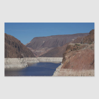 Vue du barrage de Hoover 2016 Sticker Rectangulaire