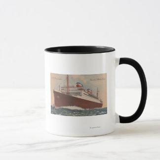 Vue du bateau de croisière de S.S. Manhattan Tasses