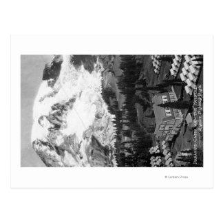 Vue du camp de paradis et du Mt plus pluvieux Carte Postale