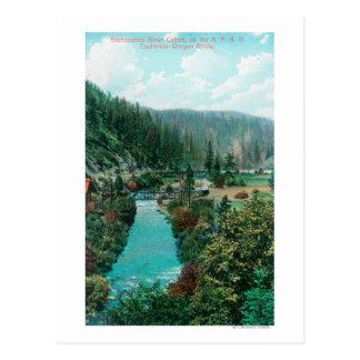 Vue du canyon du fleuve Sacramento sur le PS Carte Postale