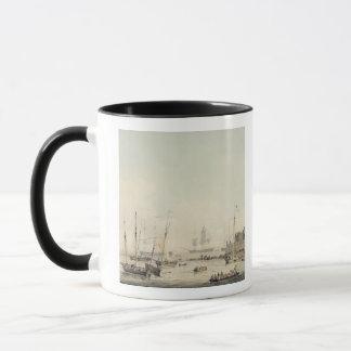 Vue du cornet de château, Guernesey, avec Mug