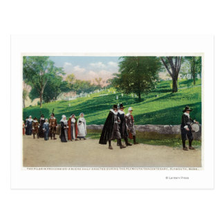 Vue du cortège de pèlerin carte postale