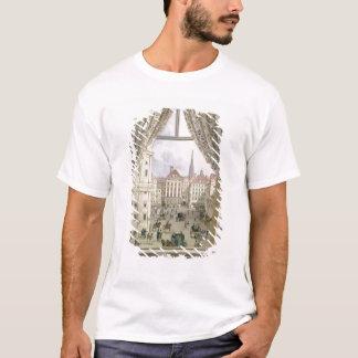 Vue du Freyung, Vienne, 1825 (gouache sur le pape T-shirt