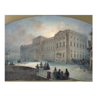 Vue du palais de Mariinsky en hiver, 1863 Carte Postale