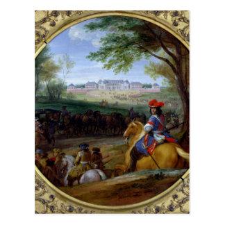 Vue du palais de Versailles en 1669 Carte Postale
