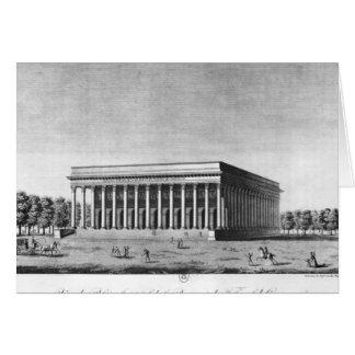 Vue du palais impérial de bourse carte de vœux