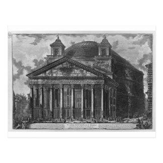 Vue du Panthéon d'Agrippa par Giovanni Carte Postale
