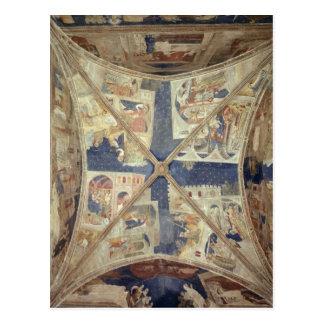 Vue du plafond de la chapelle du Tinel Carte Postale