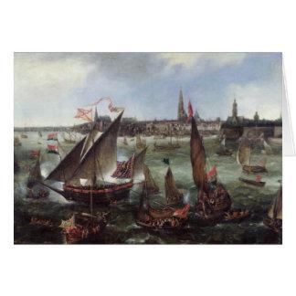 Vue du port d'Anvers Carte De Vœux