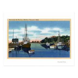 Vue du port, Martha's Vineyard Carte Postale