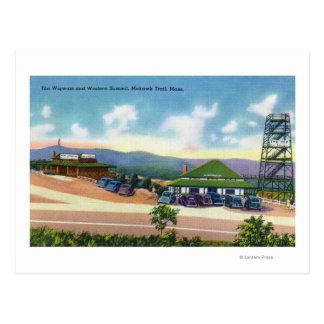 Vue du tipi et du sommet occidental carte postale