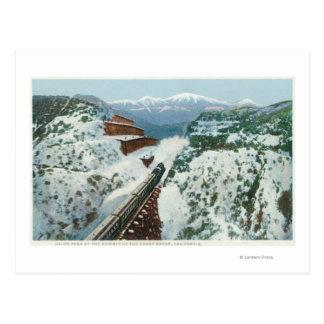 Vue du train au sommet de la côte carte postale