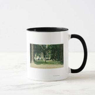 Vue d'un camp dans les séquoias mug