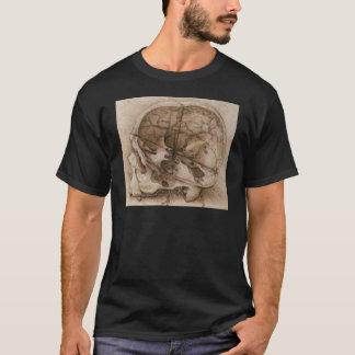 Vue d'un crâne t-shirt