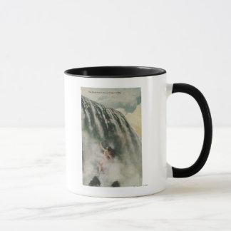 Vue d'une femme dans les automnes mugs