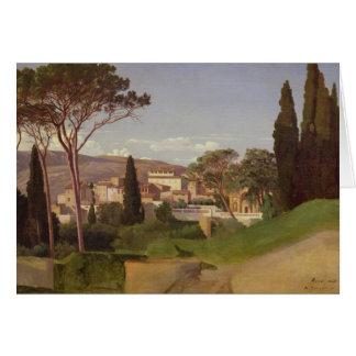 Vue d'une villa romaine, 1844 carte de vœux