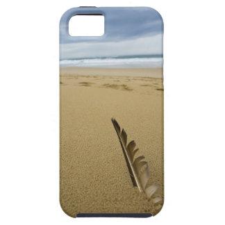 Vue en gros plan de plume d'oiseau en sable de coque Case-Mate iPhone 5