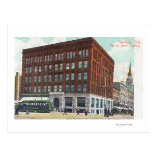 Vue extérieure de banque centrale BldgOakland, CA Cartes Postales