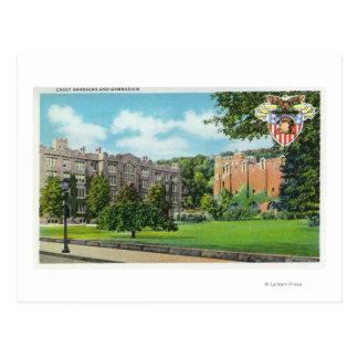 Vue extérieure des casernes et du gymnase de cadet carte postale