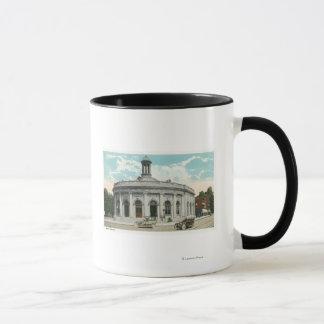 Vue extérieure du bureau de poste 2 mugs