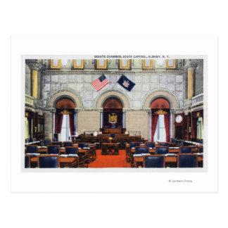 Vue intérieure de chambre de sénat de capitol carte postale
