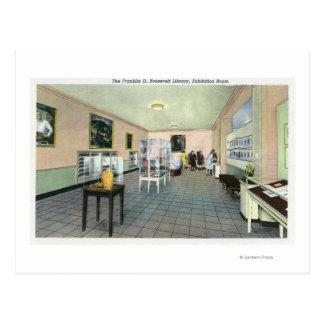 Vue intérieure de la bibliothèque de FDR, Cartes Postales