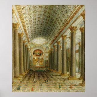 Vue intérieure de la cathédrale de Kazan Poster