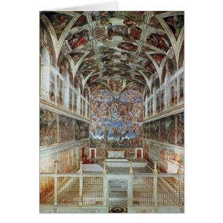 Vue intérieure de la chapelle de Sistine Carte De Vœux