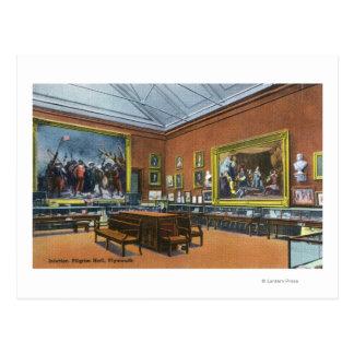Vue intérieure de pèlerin Hall Carte Postale