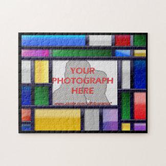 Vue lumineuse abstraite de photo couleur puzzle