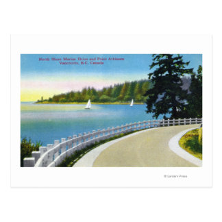 Vue marine d'entraînement de rivage du nord de carte postale