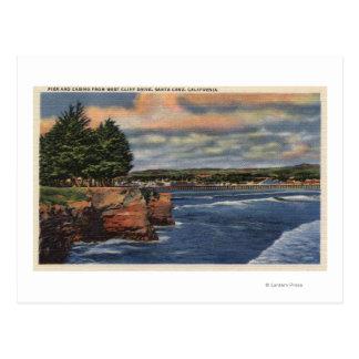 Vue occidentale d'entraînement de falaise de carte postale