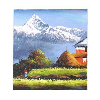 Vue panoramique de belle montagne d'Everest Bloc-note