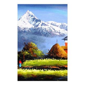 Vue panoramique de belle montagne d'Everest Papeterie