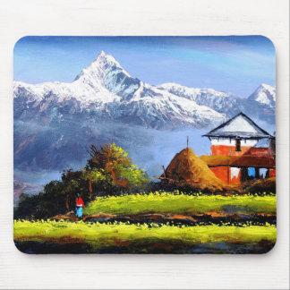 Vue panoramique de belle montagne d'Everest Tapis De Souris