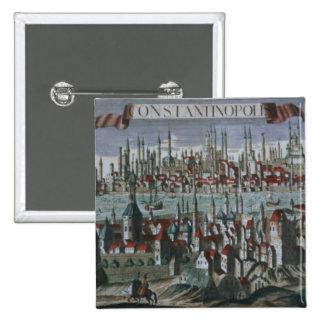 Vue panoramique de Constantinople, tard 18ème cent Badges