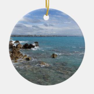 Vue panoramique de côte de Livourne Ornement Rond En Céramique