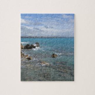 Vue panoramique de côte de Livourne Puzzle