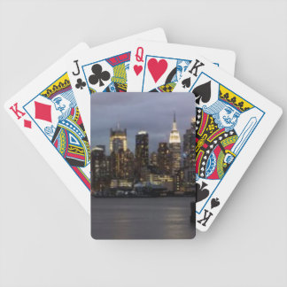 Vue panoramique de début de soirée de Manhattan Jeu De Cartes