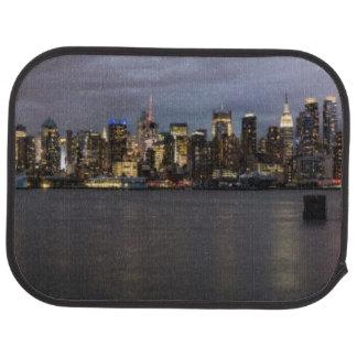 Vue panoramique de début de soirée de Manhattan Tapis De Voiture